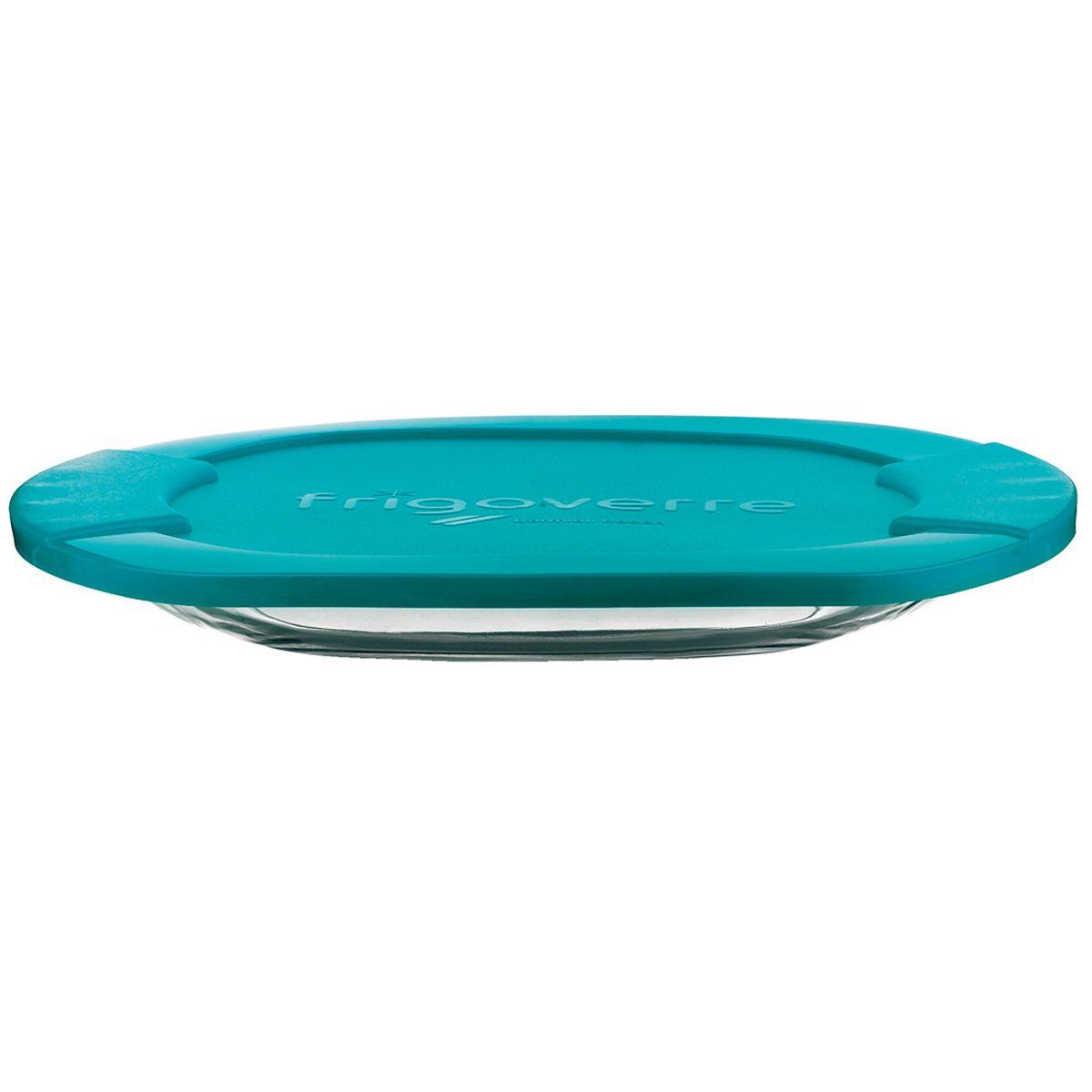 Boite de conservation pour charcuterie en verre avec couvercle bleu 3 x 27 cm Frigoverre - Bormioli