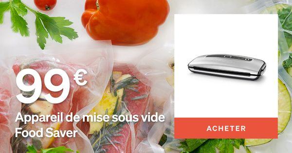 Machine sous vide food saver