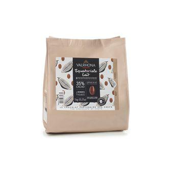 Achat en ligne Chocolat au lait à pâtisser Equatoriale Lait 35% 1kg - Valrhona