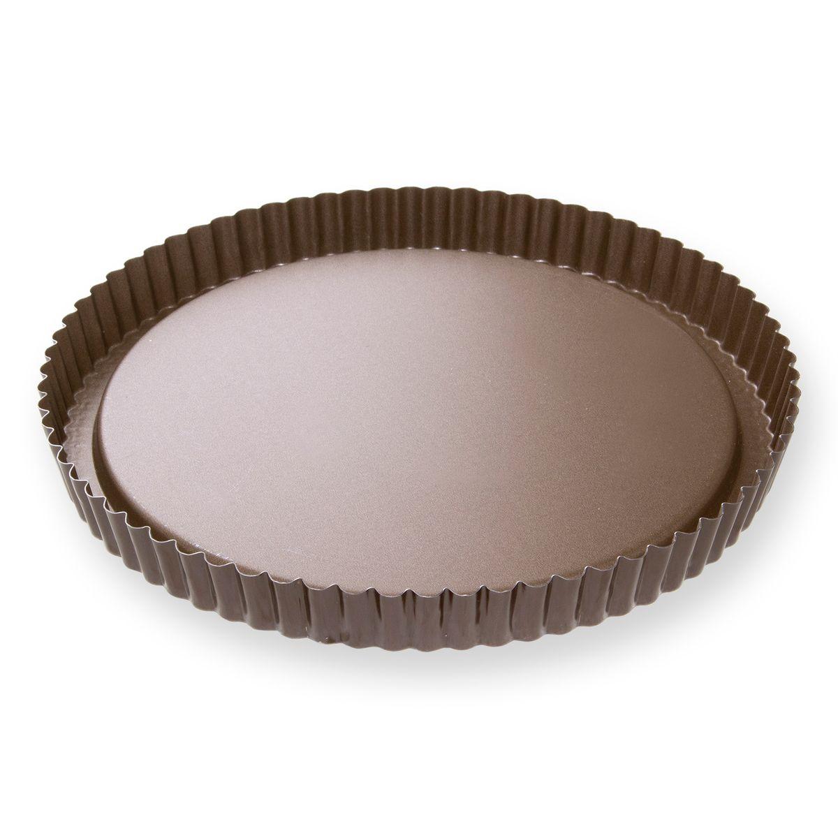 Moule à tarte renversée fruits frais en métal anti adhérent 8/10 parts 28 cm - Alice Délice
