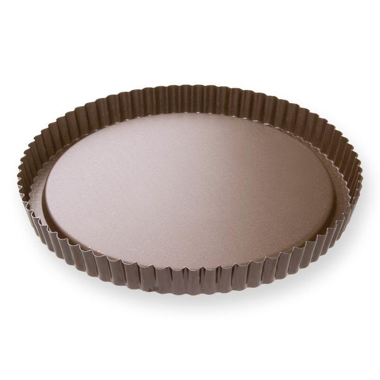 Moule à tarte fruits frais en métal anti adhérent 8/10 parts 28 cm - Alice Délice