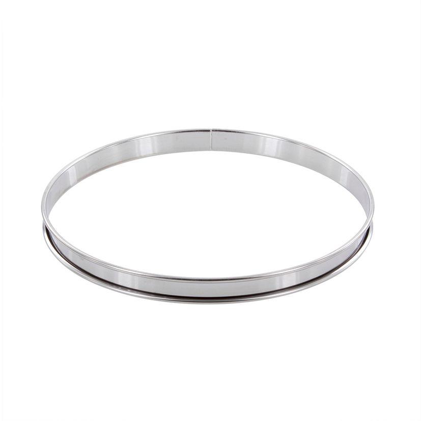 Cercle à tarte en inox 24 cm hauteur 2 cm - Alice Délice