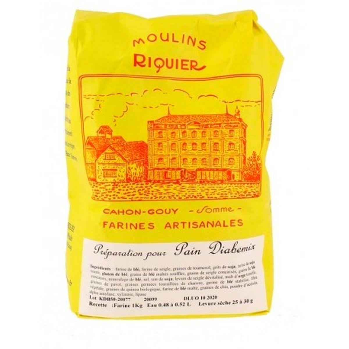 Préparation pour pain diabémix 1 kg - Moulins Riquier