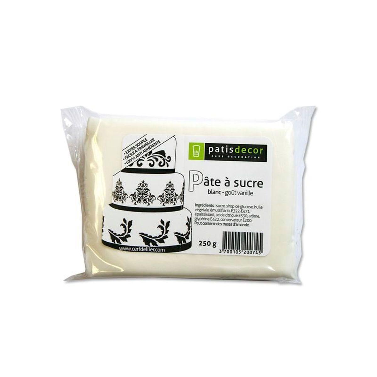 Pâte à sucre blanc arôme vanille 250G - Patisdécor