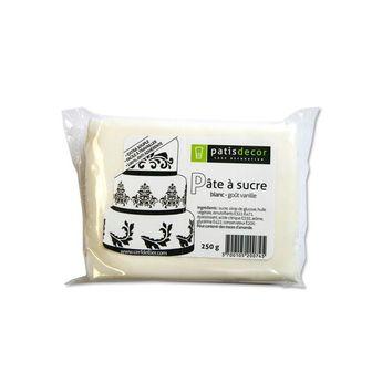 Achat en ligne Pâte à sucre blanc arôme vanille 250G - Patisdécor