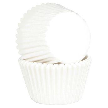 Achat en ligne 45 caissettes de cuisson à cupcakes et muffins en papier blanc 7.5 cm - Chevalier Diffusion