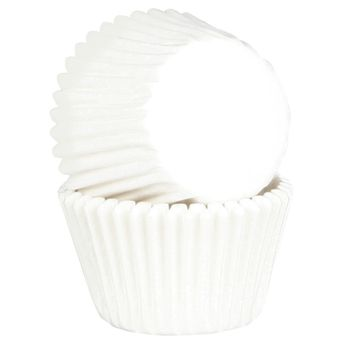 Achat en ligne 45 caissettes de cuisson à cupcakes et muffins en papier blanc 7.5 x 3.5 cm - Chevalier Diffusion