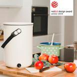 Composteur de cuisine plastique recyclé beige 9.6l - Bokashi
