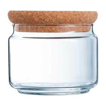 Achat en ligne Bocal en verre avec couvercle liège 0,5l 11cmx11cmx8cm - Luminarc