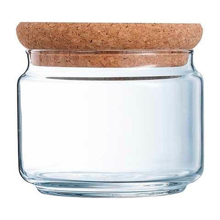 Bocal en verre avec couvercle liège 0,5L 10,5x10,5x8cm - Luminarc
