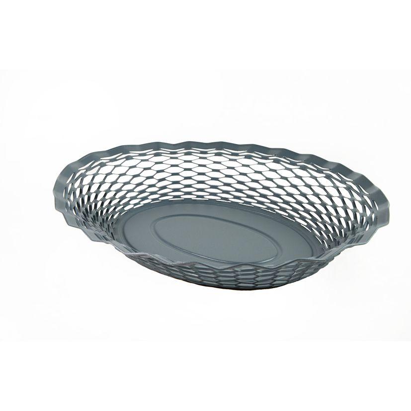 Corbeille à pain en inox gris foncé 30 x 24 cm - Roger Orfevre