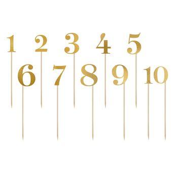 Achat en ligne Décor de gâteau : 11 chiffres dorés 26 cm - Party Deco