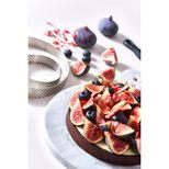 Cercle à tarte en inox perforé 28.5 x 2 cm - De Buyer