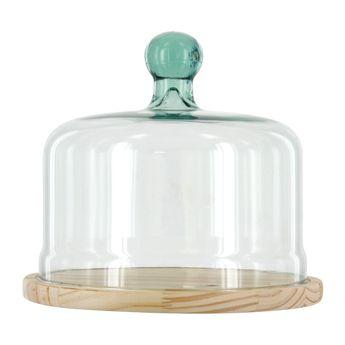 Achat en ligne Cloche à fromage en verre recyclé 22 cm - Vidrios