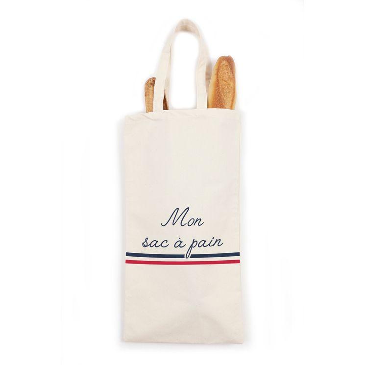 Sac à pain et baguettes en coton  59 x 28 cm Mon sac à pain - Tissage de L´Ouest