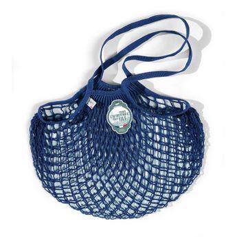 Achat en ligne Filets à provisions anses longues en coton bleu encre 40cmx70cm - Filt