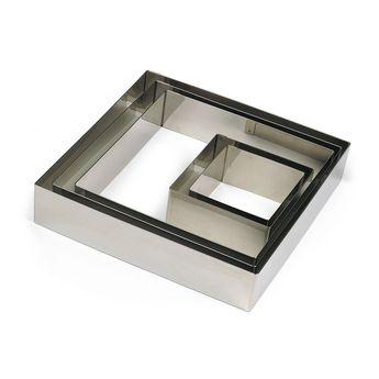 Achat en ligne Cadre à pâtisserie carré en inox 20 x 4.5 cm - Gobel
