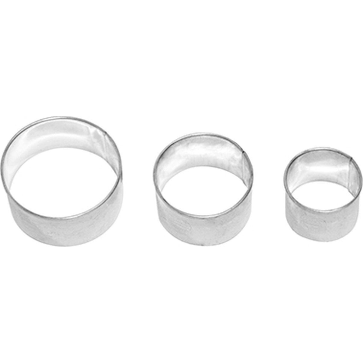 Set de 3 emporte-pièces rond lisse en inox 4, 5 et 6 cm - Birkmann