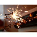 Bougie scintillante dorée étoile - Patisdecor