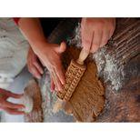 Rouleau à empreintes en bois gingerman Noël 11 cm - Alice Délice