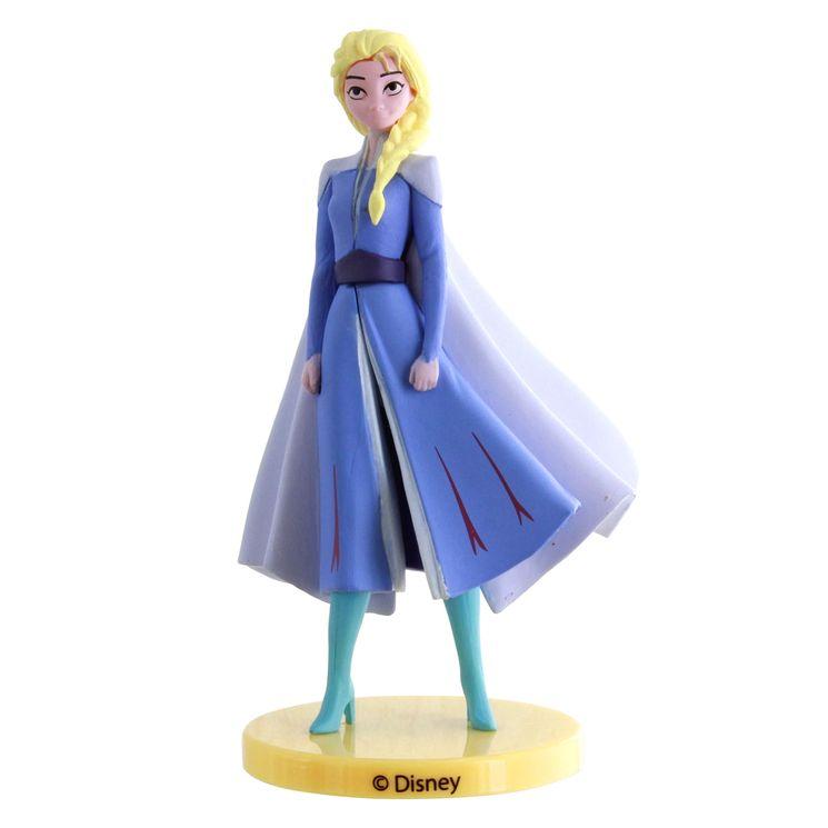 Décor de gâteau : Figurine en plastique Reine des neiges 2 : Elsa 9 cm - Dekora