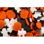 Pot décors en sucre à saupoudrer fantôme. citrouille et sorcière Halloween 70gr