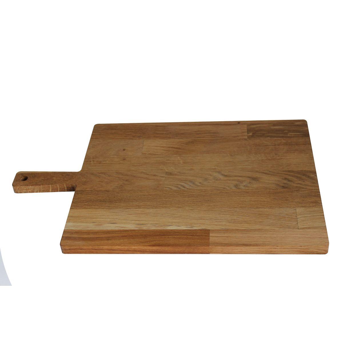 Planche à découper avec poignée chêne huilé 46 x 28,5 cm - Roger Orfevre