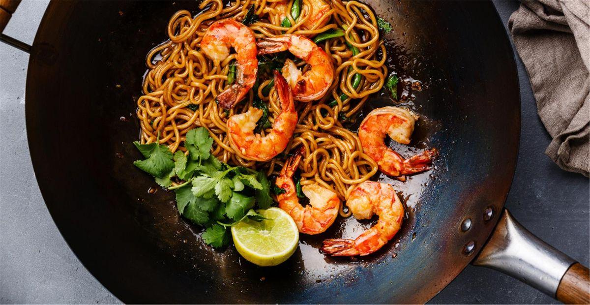Le wok thaï potimarron crevettes