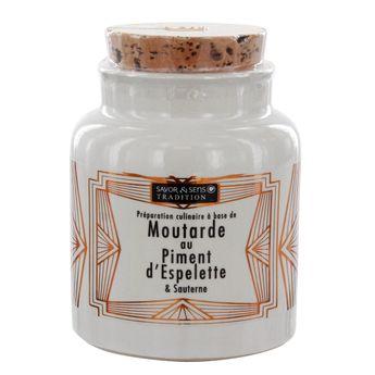 Achat en ligne Moutarde au piment d'Espelette pot grés 110g - Savor et Sens