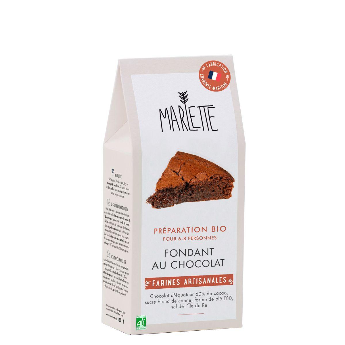 Préparation bio pour fondant au chocolat bio 330gr - Marlette