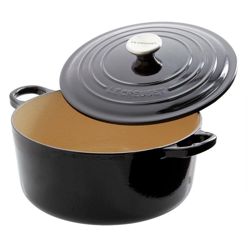 Cocotte en fonte émaillée  ronde 24 cm noir onyx 4/6 personnes - Le Creuset