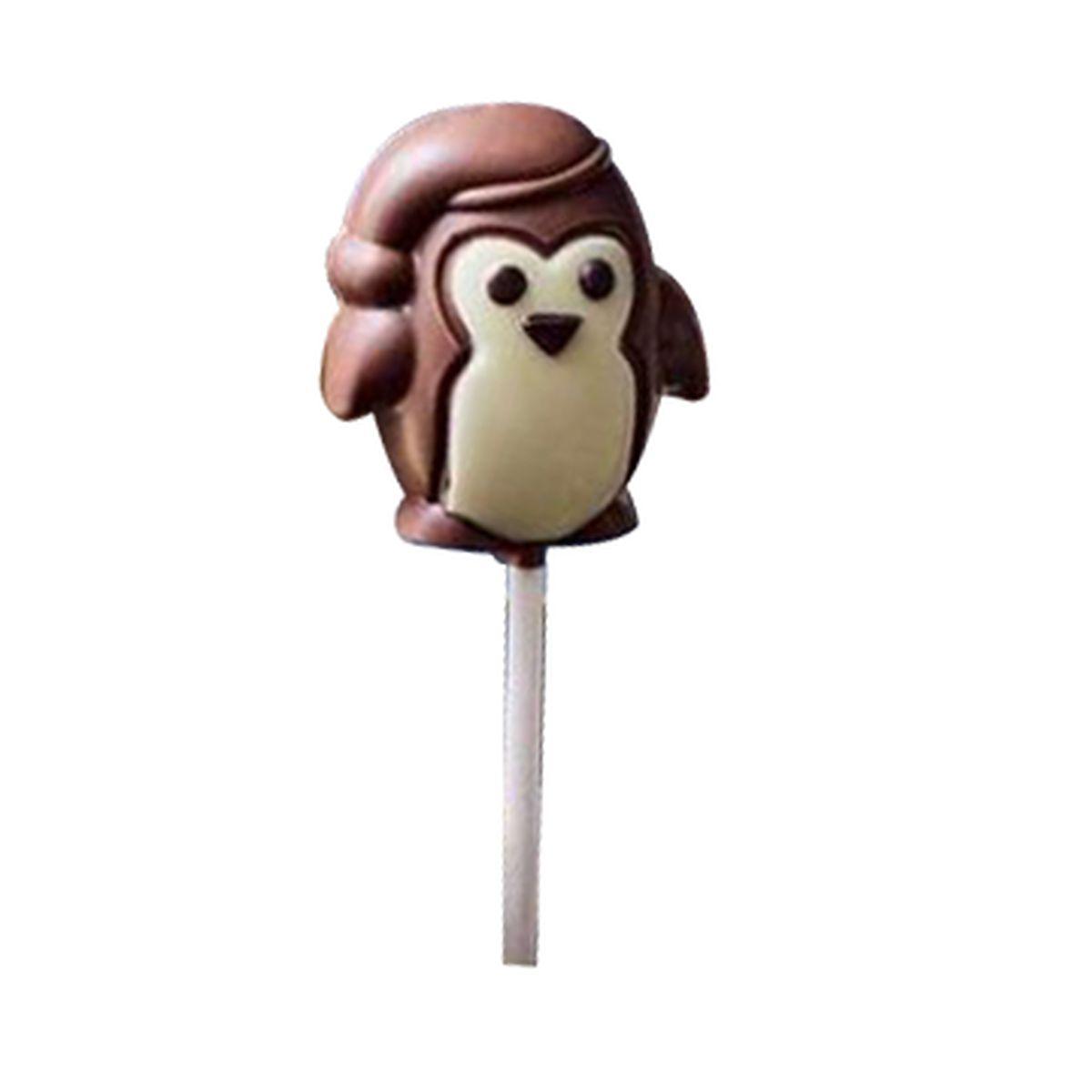 Sucette pingouin chocolat noir 18g - Monbana
