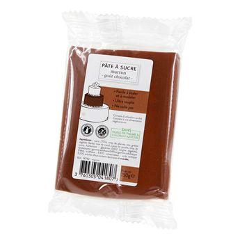 Achat en ligne Pâte à sucre marron 250g sans huile de palme