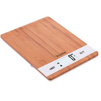 Achat en ligne Balance de cuisine bambou rechargeable par prise USB 5 kg - Terraillon