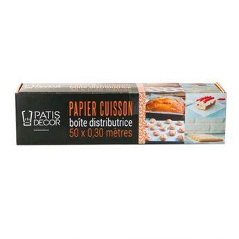 Achat en ligne Papier de cuisson en boîte distributrice 50 x 0,30 m - Patisdecor
