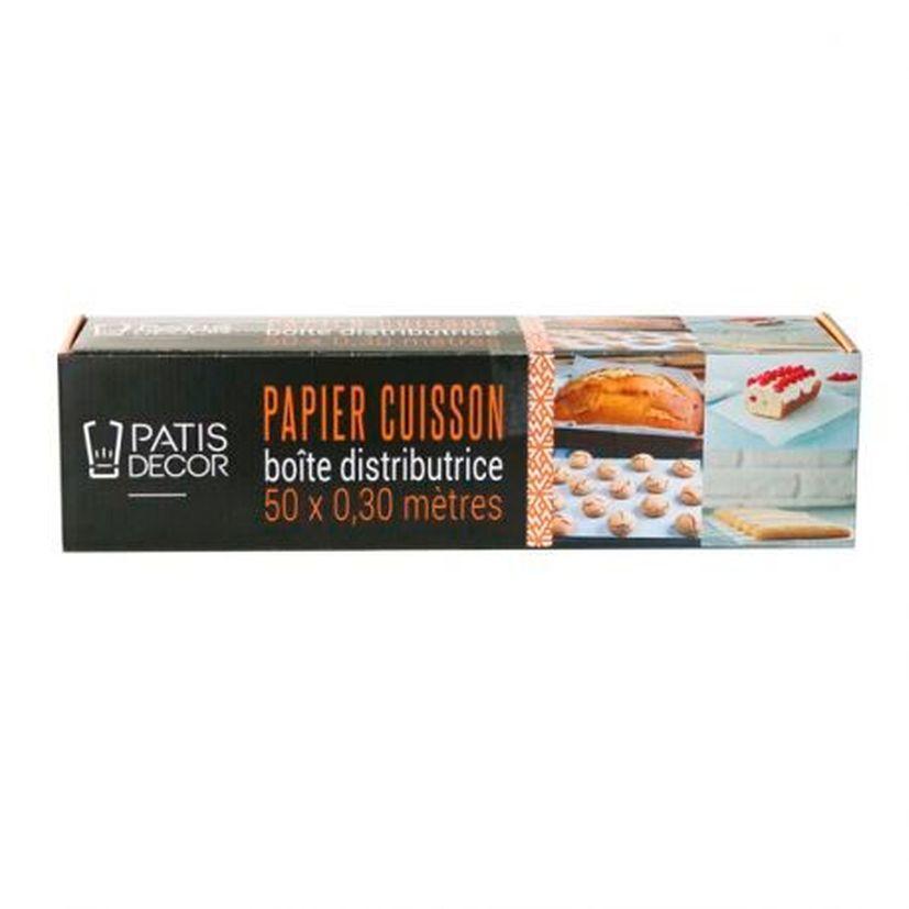 Papier de cuisson en boîte distributrice 50 x 0,30 m - Patisdecor