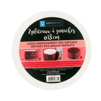 Achat en ligne 2 plateaux à ganache pour lissage parfait 18 cm - Patisdecor