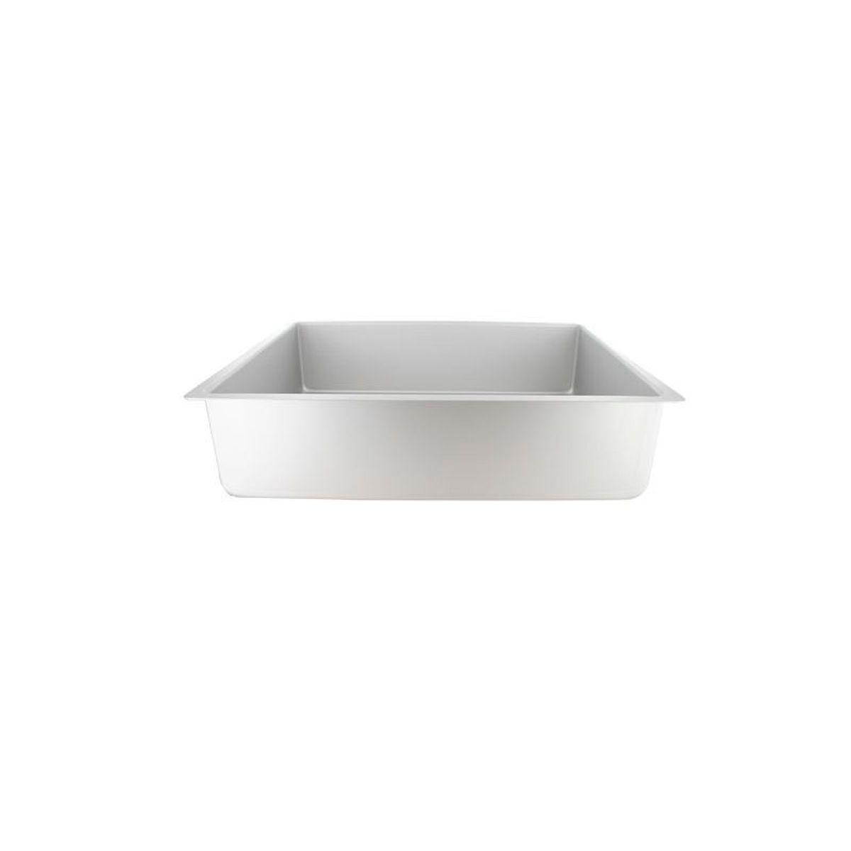 Moule à bords hauts rectangulaire en aluminium 28 x 39 cm hauteur 10 cm - Patisdecor