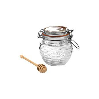 Achat en ligne Pot à miel en verre avec cuillère en bois - Kilner