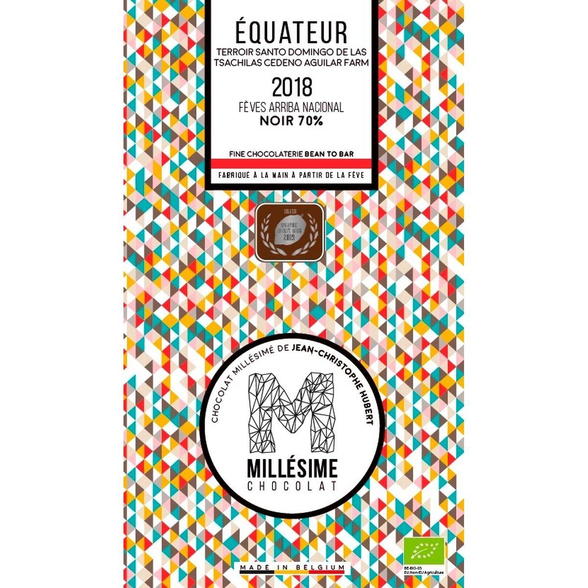 Chocolat Equateur Bio Noir 70% 70g - Millésime