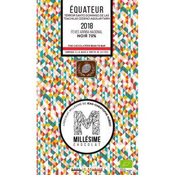 Achat en ligne Chocolat Equateur Bio Noir 70% 70g - Millésime
