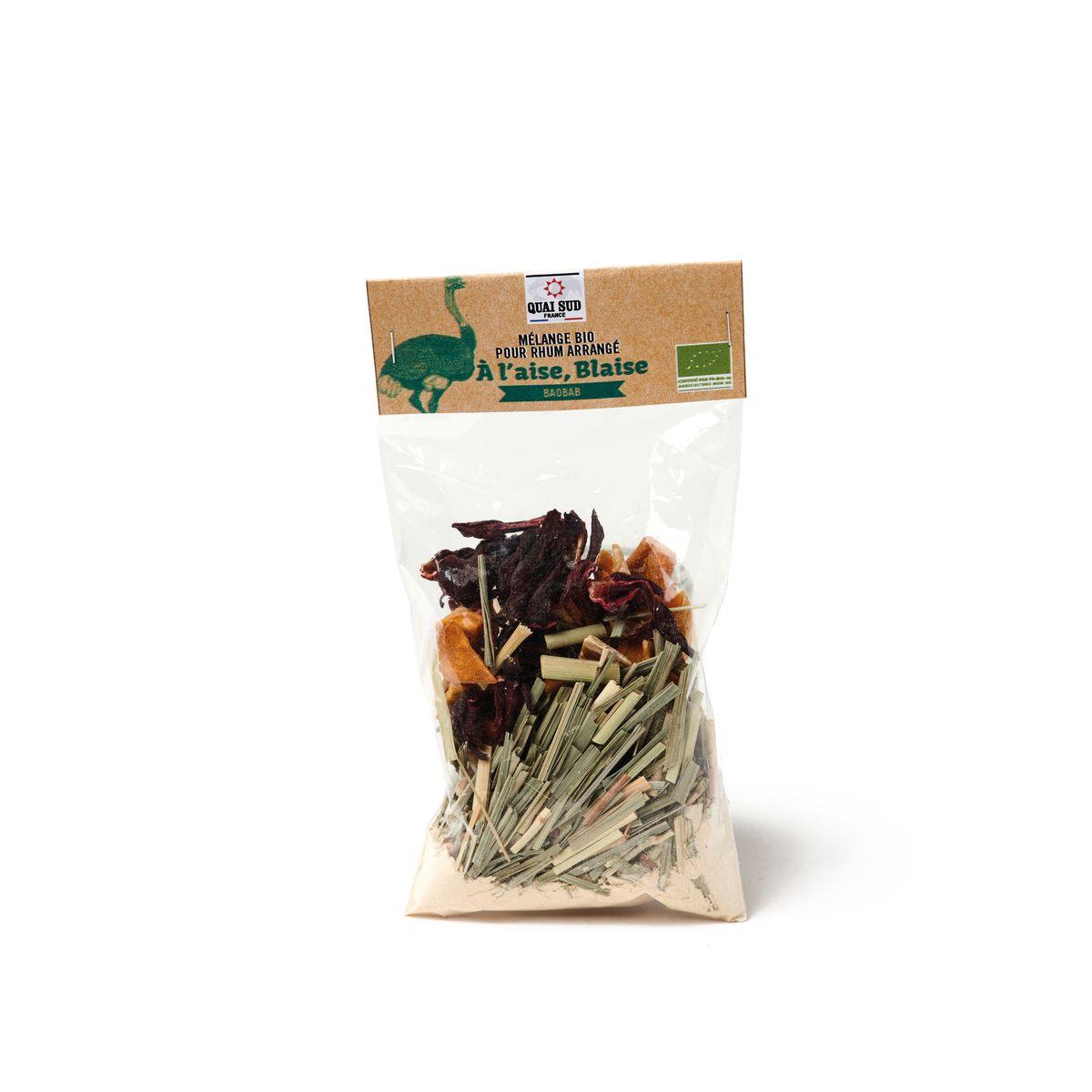 Mélange bio pour rhum arrangé en sachet A l´aise Blaise Baobab 30g - Quai Sud