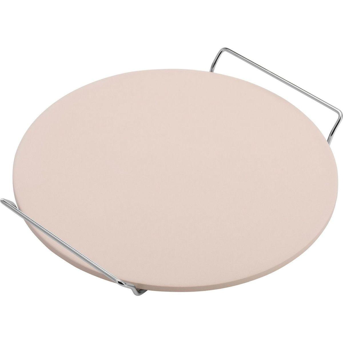 Pierre à pizza ronde diamètre 33 cm en céramique beige - Westmark