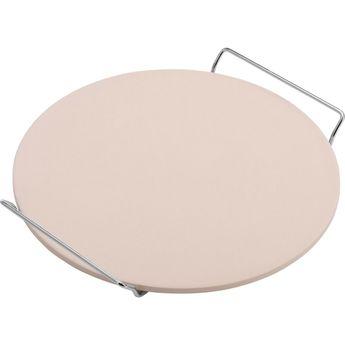 Achat en ligne Pierre à pizza ronde diamètre 33 cm en céramique beige - Westmark