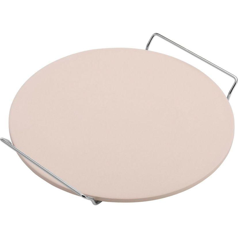 Pierre à pizza réfractaire ronde diamètre 33 cm en céramique beige - Westmark
