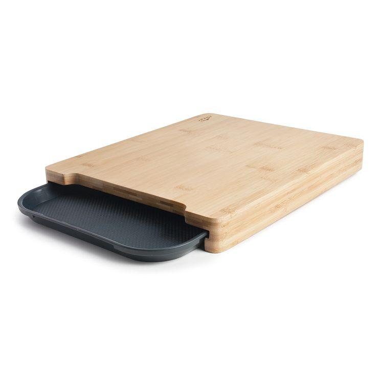 Planche à découper bambou avec bac de récupération - Lacor