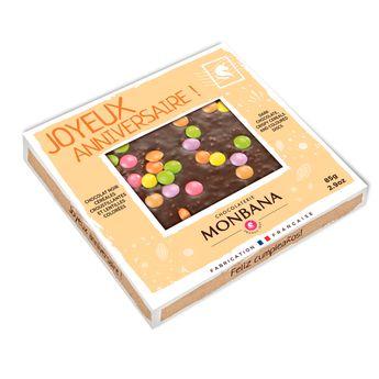 Achat en ligne Tablette de chocolat noir croustillant 85g - Monbana