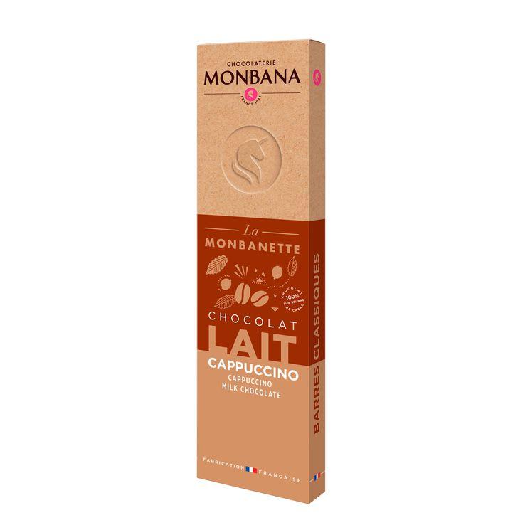 Barre de chocolat au lait au café 40g - Monbana