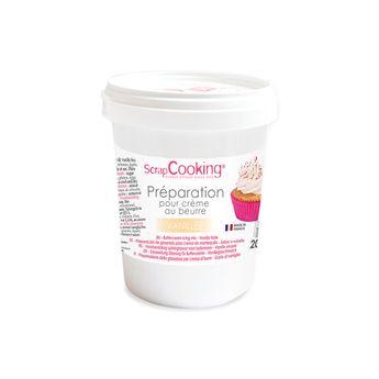 Achat en ligne Pot de préparation pour crème au beurre vanille 200 gr - Scrapcooking