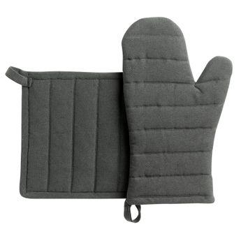 Achat en ligne Lot de gants et maniques en coton recyclé gris - Winkler